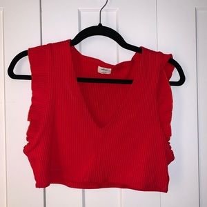 Wilfred Crop Top - Red